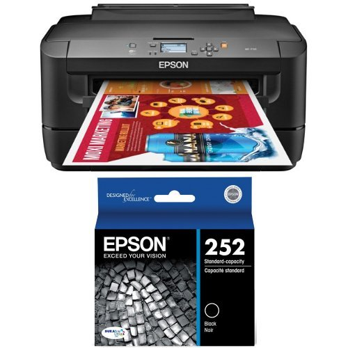 For Sale! Epson WorkForce WF-7110 Wireless and WiFi Direct, Wide-Format Color Inkjet Printer, 2-Side...
