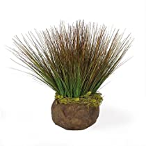 Potted Onion Grass Silk Arrangement