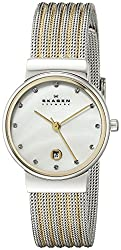 Skagen Analog Mother of Pearl Dial Womens Watch 355SSGS