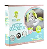 Babiew-Child-Safety-Locks-Kit-Baby-Proofing-Multifunctional-Latches-for-Cabinets-Toilet-Drawers-Fridge-Cupboard-and-Trash-Can-Magnetic-Key-No-Drill-or-Screws