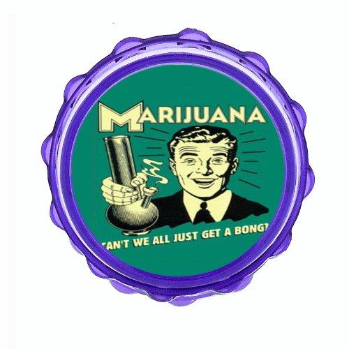 Marijuana-Get-A-Bong-Funny-25-Hard-Plastic-Sharp-Tooth-Acrylic-Grinder-D-551