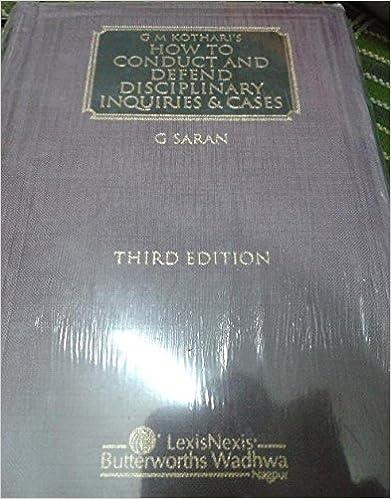 Kothari: How To Conduct And Defend Disciplinary Enquiries and Cases 3rd  Edition price comparison at Flipkart, Amazon, Crossword, Uread, Bookadda, Landmark, Homeshop18