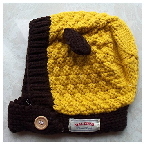 Cute Rabbit Ear Baby Hat Crochet Caps Winter (yellow)
