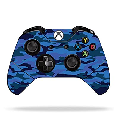 Custom Vinyl Skin Decal For Microsoft Xbox 1 Controlers Blue Camo
