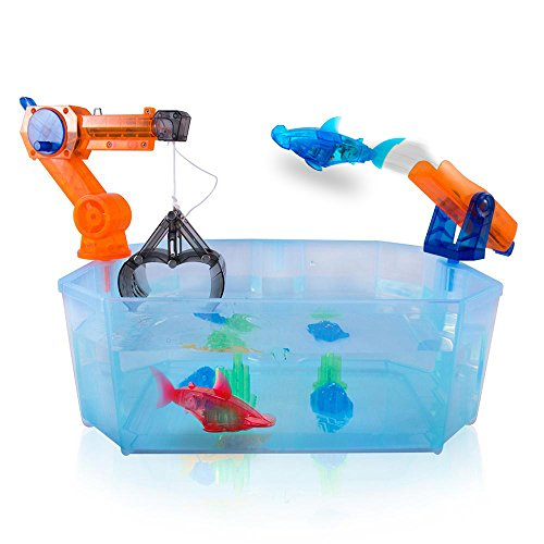 Red blue shark hexbug aquabot 2 0 the harbor crane and for Hex bug fish