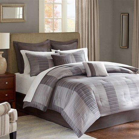 Madison Park Tribeca 12 Piece Comforter Set - Grey - King front-813494