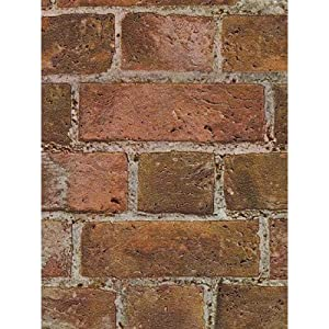 Faux Real Brick Looking Heavy Thick Textured Wallpaper ...