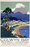 Welsh Railway Art Travel Poster Print, Colwyn Bay Wales, The Gateway to the Welsh Rockies by LMS
