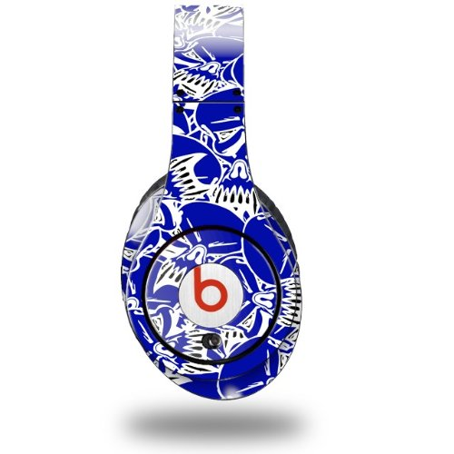 Scattered Skulls Royal Blue Decal Style Skin (Fits Original Beats Studio Headphones - Headphones Not Included)