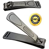 "Fingernail & Toenail Clippers Set (2.6"" + 3.4"") Best Professional Stainless Steel Toe Nail And Finger Nail Clippers..."