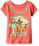 Disney Girls Little Girls Lion Guard Tee Shirt, Orange, 4T
