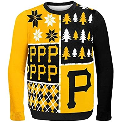 Forever Collectibles PITTSBURGH PIRATES BUSY BLOCK UGLY SWEATER