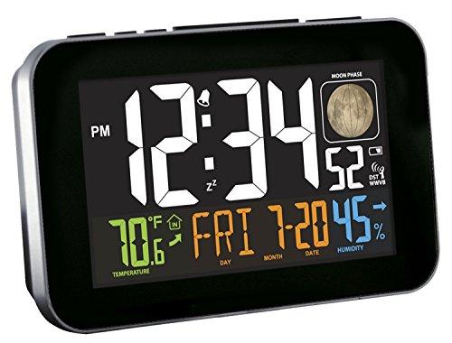 La Crosse Technology C85183 Atomic Alarm Clock With Usb, Multicolor