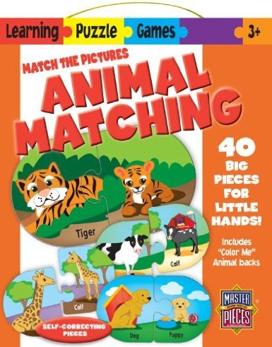 Masterpieces / Learning Games Animal 40-Piece Matching Puzzle front-733538