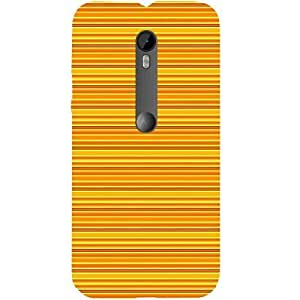 Casotec Stripes Line Background Design Hard Back Case Cover for Motorola Moto G 3rd Generation