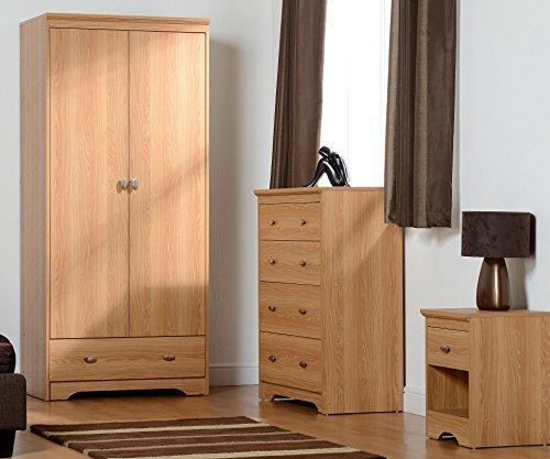 Regent 2 Door 4 Drawer Bedroom Set in Teak Effect Veneer