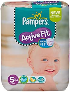 Pampers Active Fit Size 5 (Junior) Monthly Pack--136 Nappies