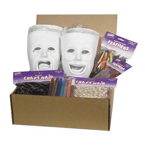 Chenille Kraft 1720 Plastic Masks Classroom Activities, 6 Sad/6 Happy
