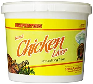 Beefeaters Freeze Dried Chicken Liver, 14oz Tub
