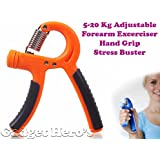 Gadget Hero's Adjustable Hand Grip Exerciser. Power Gym Grippers. Adjustable From 5 To 20 Kg. Stress Buster. Forearm...