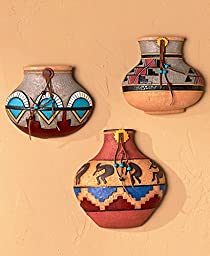 Set of 3 Southwestern Pots Wall Hanging