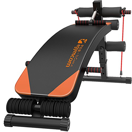 egymcom Abdominal Sit Up Abs Decline Bench Slant Board with Elastic Rope Abdominal Exercise Home Gym (Machine Bench Press compare prices)