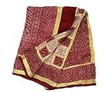 Femme Bordeaux Sari vintage indien