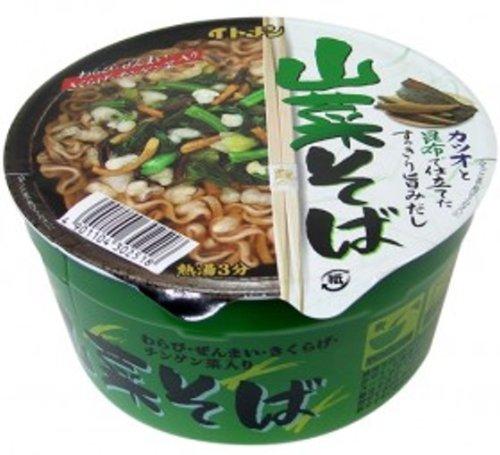 イトメン カップ山菜そば 80g×12個 -