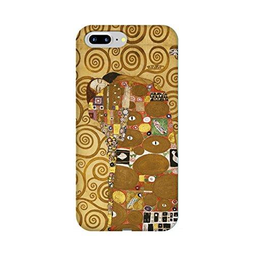 スマホケース スマートフォンケース 【側面印刷 iPhone7 Plusハードケース】【アイフォン7 Plus】【クリムト 充足・抱擁】【名画mg2】光沢