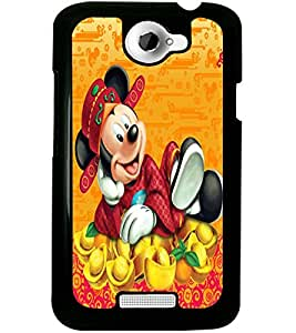 ColourCraft Lovely Cartoon Character Design Back Case Cover for HTC ONE X