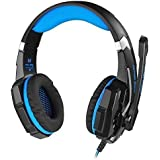 Gaming Headset For PS4, Rixow 3.5mm Stereo LED Lighting Over-Ear Game Gaming Headphone Headset Headband Earphone...