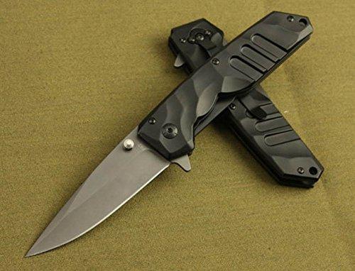 Assisted Rescue Black Pocket Folding Knife F42-8.54''