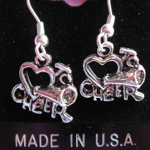 Pewter Love to Cheer Earrings