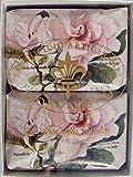 Saponificio Artigianale Fiorentino Italian Gardenia Soap Set of 2 x 7.05 Bars