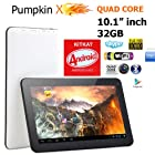 10.1 Android KITKAT 4.4.2 [QUAD Core] Tablet w/ 1GB RAM + 32GB + Dual Cameras + Bluetooth + HDMI - PumpkinX