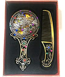 Gubbarey Diwali gift offer: box of mirror and comb : get 2 free roli/kumkum/sindoor small box with every purchase