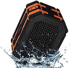 Mpow Armor Enceinte sans fil, Hifi stéréo Bluetooth 4.0 Portable, Waterproof Résistance - 2 Haut-parleurs de 5W intégrés, Alimentation de Secours Jusqu'à 1000mAh