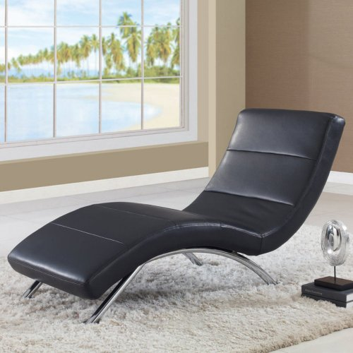 Global Furniture R820 Leather Indoor Chaise Lounges