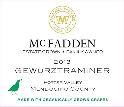 2013 Mcfadden Gewurztraminer Mendocino County 750 Ml