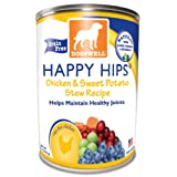 Dogswell Happy Hips for Dogs, Chicken and Sweet Potato Stew Recipe, 13-Ounce Cans (Pack of 12)