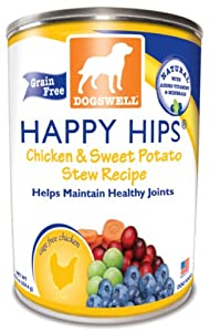 Dogswell Happy Hips for Dogs, Chicken & Sweet Potato Stew Recipe, 13-Ounce Cans (Pack of 12) at Sears.com