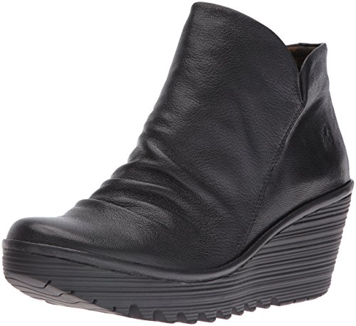 FLY LondonYIP - botas de caño bajo Mujer, color Negro, talla 39