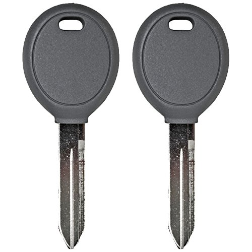 QualityKeylessPlus TWO Replacement Transponder Chip Keys Y160PT for Chrysler Vehicles with FREE KEYTAG (2004 Dodge Neon Key compare prices)