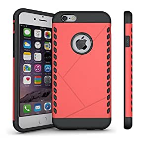 iPhone 6S Plus,iPhone 6 Plus Case,Moment Dextrad [Non-Slip][Shock Absorbent] Dual Layer Armor Defender Corner Cushioned Cover for iPhone 6/6S Plus 5.5 inch *Three Months Warranty*(Coral color)