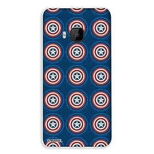 Marvel Civil War PBMARHTCOM9017 Captain America Logo Art Back Cover for HTC One M9 (Multicolor)
