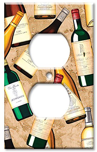 Art Plates - Wine Bottles Switch Plate - Outlet Cover