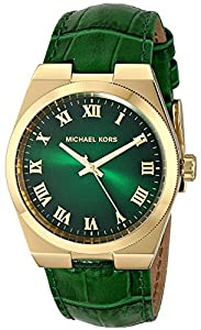 Michael Kors MK2356 - Ladies Mid-Size Green Leather Channing Three-Hand Watch
