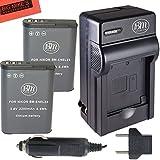 BM Premium 2 Pack Of EN-EL23 Batteries And Battery Charger For Nikon Coolpix B700 P900 P600 P610 S810c Digital...