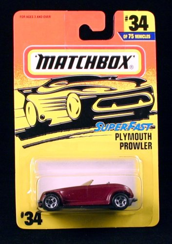 PLYMOUTH PROWLER * PURPLE * Superfast Series MATCHBOX 1997 Basic Die-Cast Vehicle (#34 of 75) - 1