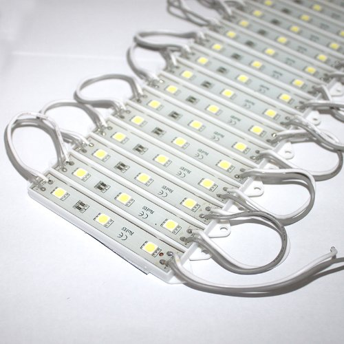 Hkbayi 100Pcs 12V 7512 5050 Smd 3 Led Module White Waterproof Light Lamp 3 Years Warranty